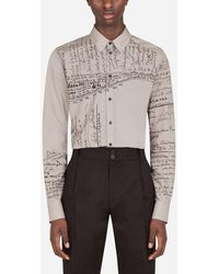 Dolce & Gabbana Dolce&Gabbana-Print Cotton Gold-Fit Shirt - Mehrfarbig