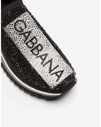 Dolce & Gabbana Zapatillas Sorrento Con Cristales Termostrass - Negro