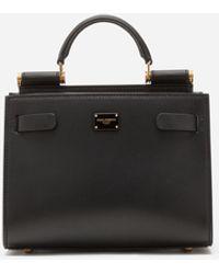 Dolce & Gabbana Sicily 62 Tasche Mini Aus Kalbsleder - Schwarz
