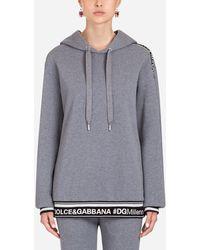 Dolce & Gabbana Jersey-Sweatshirt - Grau