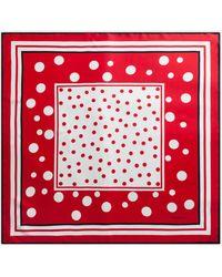 Dolce & Gabbana Twill Scarf With Polka Dot Print (90 X 90) - Rojo