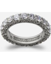 Dolce & Gabbana Ring Sicily Aus Weissgold Mit Diamanten - Mehrfarbig