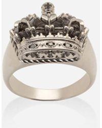 Dolce & Gabbana Crown White Gold Crown Ring