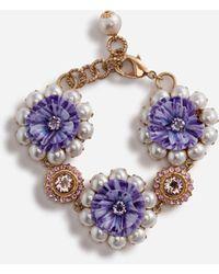 Dolce & Gabbana Armband Mit Zierelementen - Mettallic