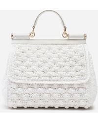 Dolce & Gabbana Medium Sicily Bag - White
