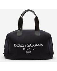 Dolce & Gabbana Tasche Palermo Aus Neopren Mit Logoprint - Schwarz