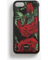 Dolce & Gabbana - Iphone 7/8 Cover In Printed Dauphine Calfskin Detail - Lyst