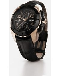 Dolce & Gabbana Ds5 Watch In Red Gold And Steel With Pvd Coating - Mehrfarbig