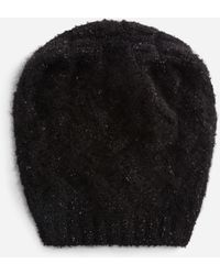 Dolce & Gabbana Slouchy Wool And Cashmere Hat - Nero