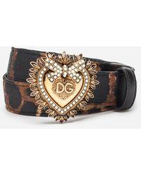 Dolce & Gabbana - Cintura Devotion a stampa leopardata - Lyst