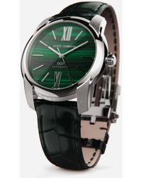 Dolce & Gabbana Steel And Malachite Watch - Grün