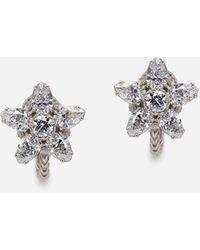 Dolce & Gabbana Ohrringe Primavera Aus Weissgold Mit Diamanten - Mehrfarbig