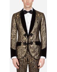 Dolce & Gabbana Tuxedo Jacket With Velvet Details - Multicolour