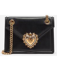 Dolce & Gabbana Small Devotion Shoulder Bag - Black