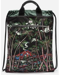 Dolce & Gabbana Printed Nylon Backpack With Drawstring - Black