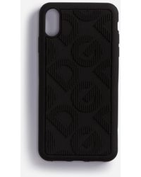 Dolce & Gabbana Rubber Iphone Xs Max Case With All Over Dg Logo - Black