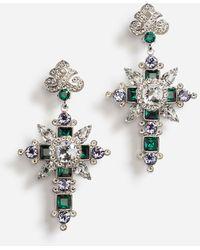 Dolce & Gabbana Pendant Earrings With Decorative Elements - Metallic