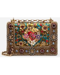 6887404d8bf7 Dolce & Gabbana - Dg Girls Bag In Ornamental Jacquard With Embroidery And  Appliqués - Lyst