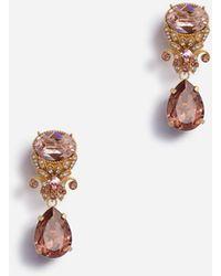 Dolce & Gabbana Brooch With Rhinestone Pendants - Multicolour
