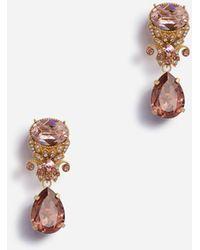 Dolce & Gabbana Alfiler Con Colgantes De Piedras Strass - Multicolor