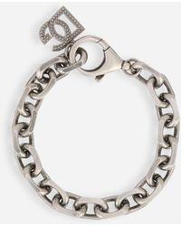 Dolce & Gabbana Silver Chain Bracelet - Metallic