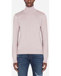 Dolce & Gabbana Cashmere Turtle-Neck Sweater - Rosa