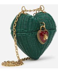 Dolce & Gabbana Dolce Heart Box In Painted Wicker - Grün