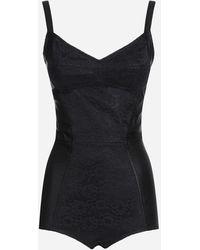 Dolce & Gabbana Elasticated Corset-style Bodysuit - Black