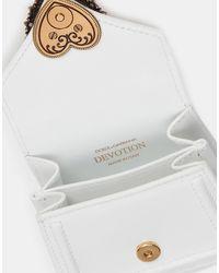 Dolce & Gabbana Devotion Micro Bag In Plain Calfskin - Bianco