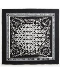 Dolce & Gabbana Cotton Foulard With Bandana Print 50 X 50cm- 19 X 19 Inches - Black