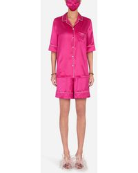 Dolce & Gabbana Pajama Set With Matching Face Mask - Pink