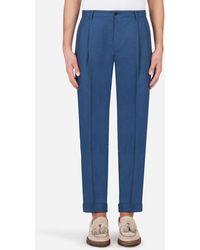 Dolce & Gabbana Linen Pants - Bleu