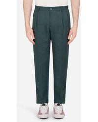 Dolce & Gabbana Linen Pants - Verde
