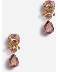 Dolce & Gabbana Brooch With Rhinestone Pendants - Multicolore