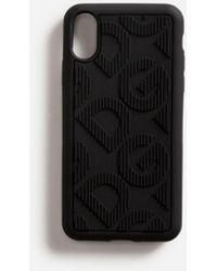Dolce & Gabbana Funda Iphone X De Goma Con Logo Dg - Negro