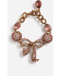 Dolce & Gabbana Armband Mit Dekorativen Strass-Elementen - Mettallic