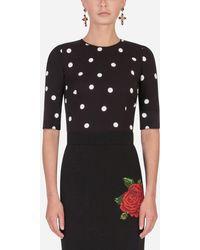 Dolce & Gabbana - Polka-Dot Print Blouse - Lyst