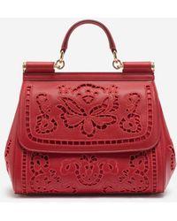 Dolce & Gabbana - Medium Sicily Bag In Intaglio Leather - Lyst