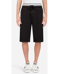 Dolce & Gabbana - Cotton Jogging Shorts With Print - Lyst