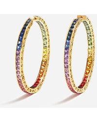 Dolce & Gabbana Multi-colored Sapphire Hoop Earrings - Metallic