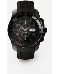 Dolce & Gabbana Ds5 Watch In Steel With Pvd Coating - Negro