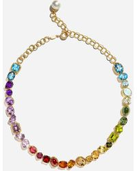 Dolce & Gabbana Necklace With Multi-colored Gems - Metallic