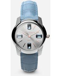 Dolce & Gabbana Watch With Alligator Strap - Blau