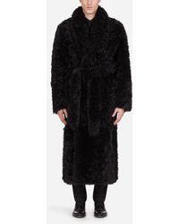 Dolce & Gabbana Shearling Coat - Gray