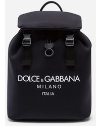 Dolce & Gabbana - Palermo Tecnico Backpack In Neoprene With Printed Logo - Lyst