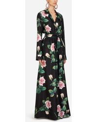 Dolce & Gabbana Tropical Rose Print Twill Suit - Multicolour