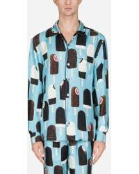 Dolce & Gabbana - Camisa Pijama De Seda Estampada - Lyst