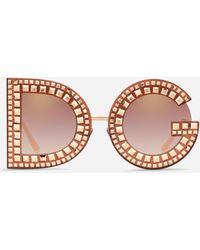 Dolce & Gabbana Dg Glitter Sunglasses - Pink