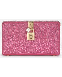 Dolce & Gabbana Dolce Box Clutch With Heat-Applied Rhinestones - Multicolore