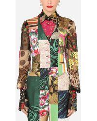 Dolce & Gabbana Patchwork Brocade And Jacquard Vest - Multicolour